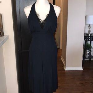 Diane Von Furstenberg Halter Dress Midnight